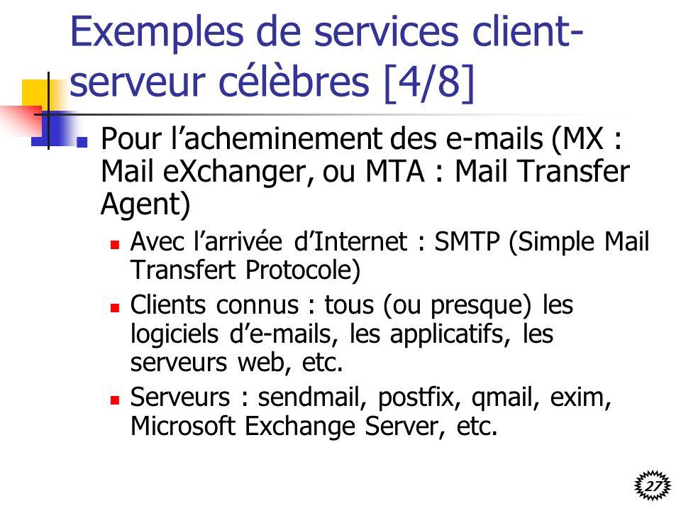 Exemples de services client-serveur célèbres [4/8]
